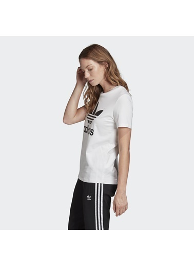 adidas Adidas Kadın T-Shirt Trefoil Tee Fm3306 Beyaz